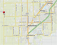 Click here to enlarge Homestead General Airport map location