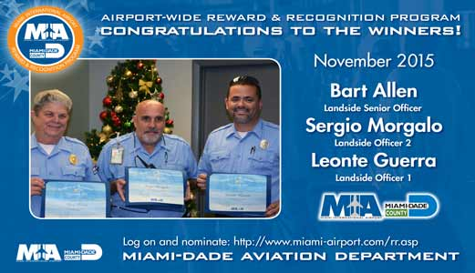 Reward & Recognition Winners - 2015 - Miami International Airport
