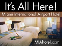 Miami Int'l Airport Hotel, located inside the central terminal E