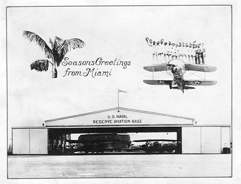 In 1929, the city of Miami bought a World War I blimp hangar located in Key West to house the Goodyear Blimp during its winter sojourn in Miami. The hangar was dismantled, its components carried north on the overseas railroad, and erected on the Florida Aviation Camp air field.