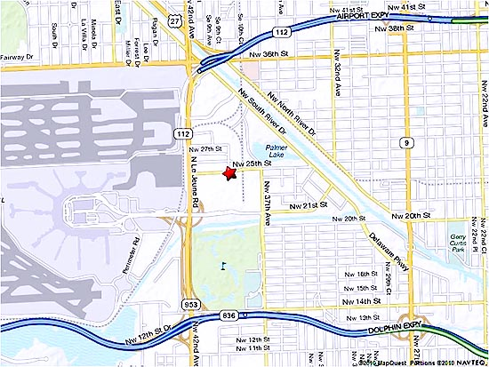 Map location and driving directions to MIA Reantal Car Center (RCC)