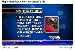 Click to view video -- MIA Employee of the Year Saved Passenger's Life