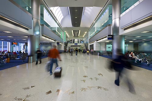 View of  Concourse D, North Terminal - Photo by Heery S&G - click here to view more images