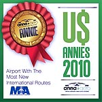 "MIA Wins Anna.aero US ANNIE Prize 2010 ""Airport With The Most New International Routes"""