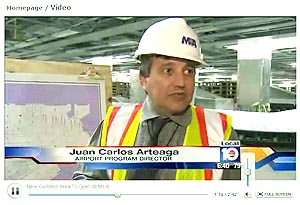 New Customs Area To Open At MIA -- Juan Carlos Arteaga is the Airport Program Director -- click here to view video