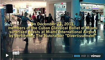 Random Acts of Culture™ hits the sky: Cuban Classical Ballet @ Miami International Airport